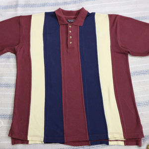 Vintage ROUNDTREE & YORK Colorblock Striped Polo